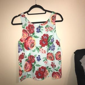 Olive and Pim floral tank